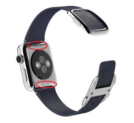 Apple Watch Bracelet Boucle Moderne bleu nuit 38 mm image1