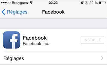 Facebook reglages image