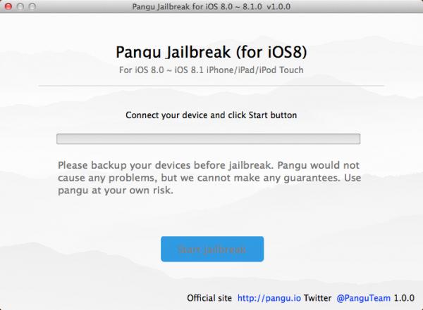 Pangu iOS 8 image1