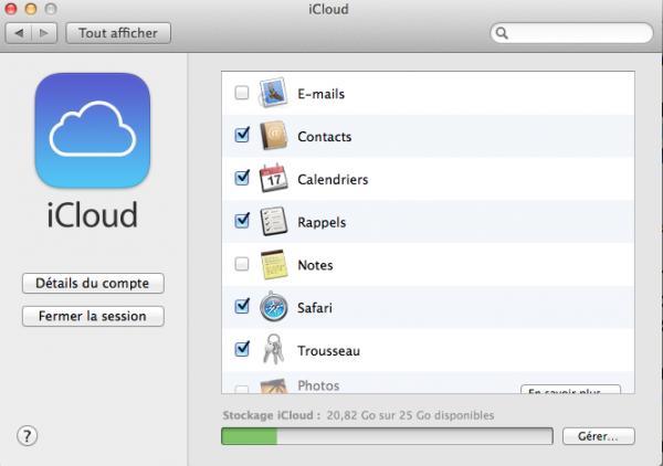 iCloud paramètre image1