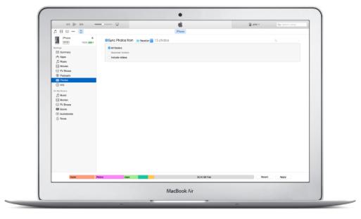 iTunes Macbook Air image