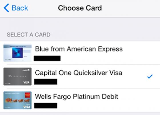 Apple Pay choix CB