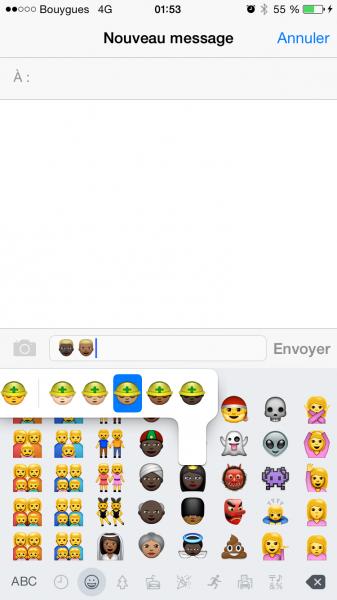 Emojis iOS 8.3 image