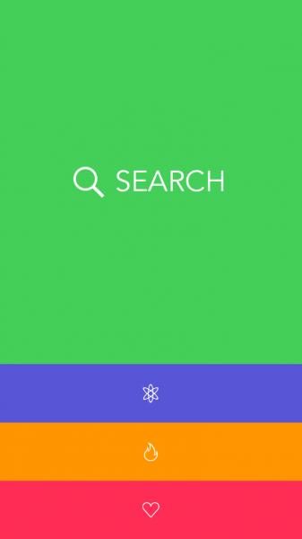 Giffage menu search