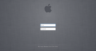 Mac OS X login screen
