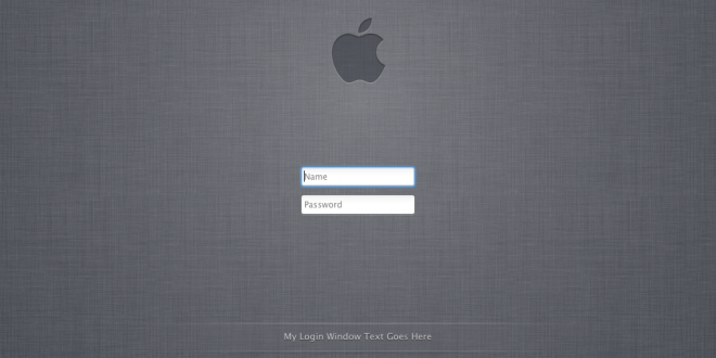 Mac OS X login screen