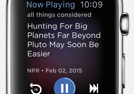 NPR One Apple Watch app