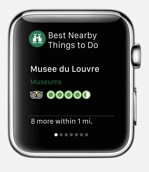TripAdvisor apple watch app