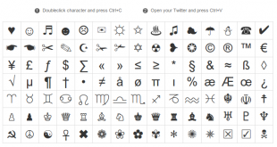 Twitter-Symbols