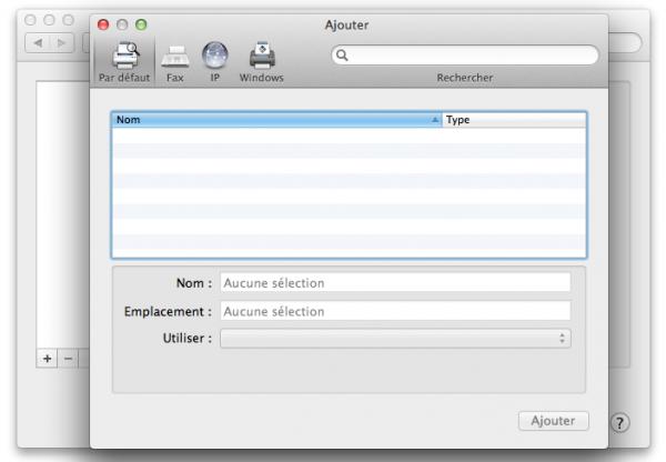ajouter imprimante OS X im1