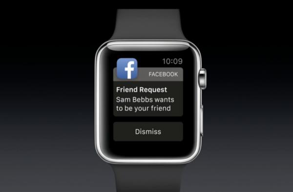 apple watch Facebook features