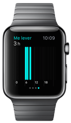 apple watch activité me lever