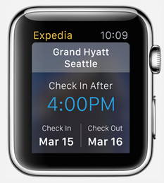 applewatch appli expedia
