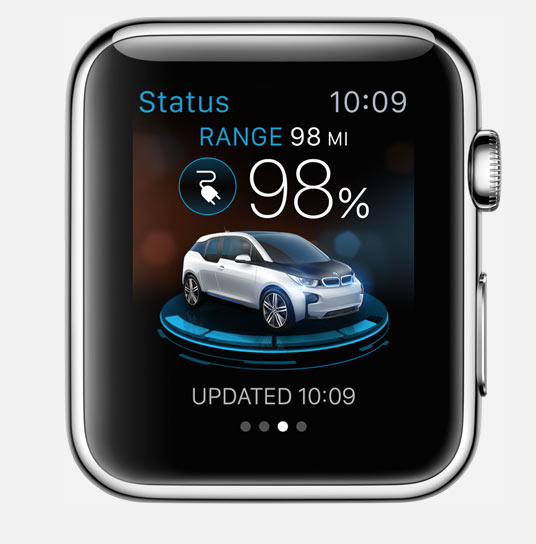 bmw i remote apple watch app