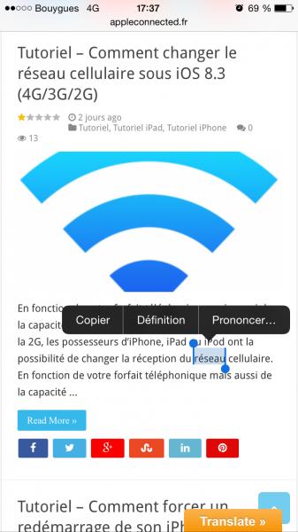 définition sur iOS image1