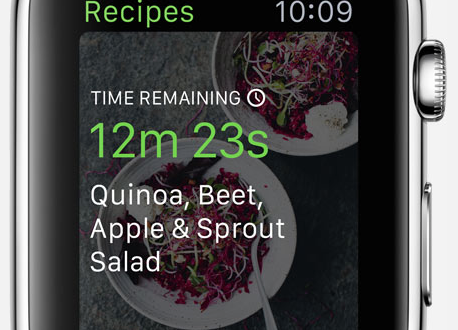 green kitchen application apple watch