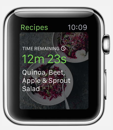 green kitchen application apple watch