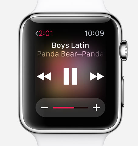 guide apple watch musique