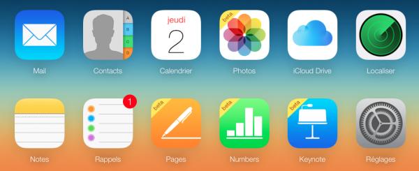 iCloud Homepage image