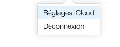 iCloud réglages iCloud image