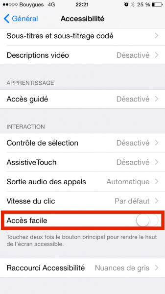iOS 8 double tap image settings