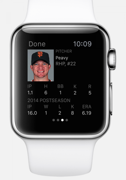 mlb app apple watch3