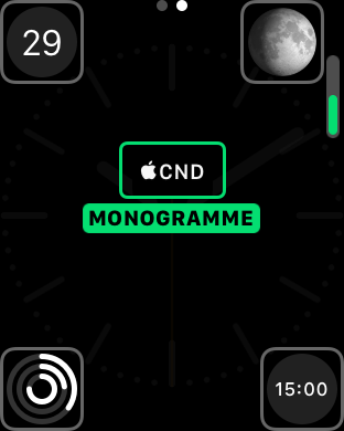 monogramme appleconnected apple watch 4