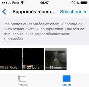photo restauration iOS 8