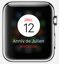 smartwatch appli calendrier1