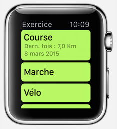 smartwatch appli exercice1