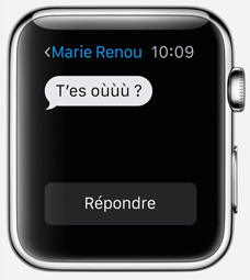 smartwatch appli message1