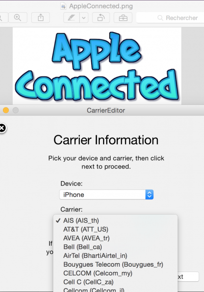 tuto change logo appleconnected 4