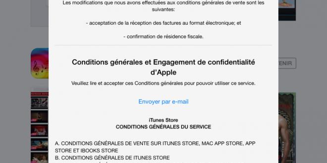conditions générales apple itunes