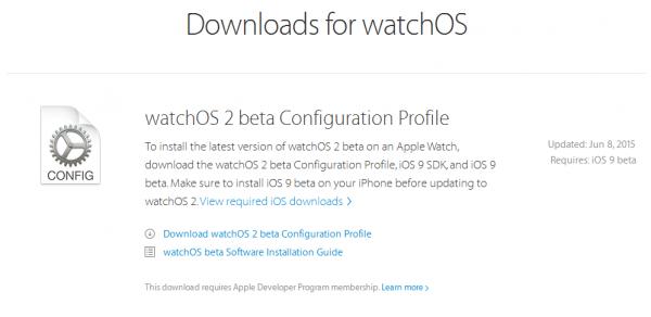 watchOS 2 profil